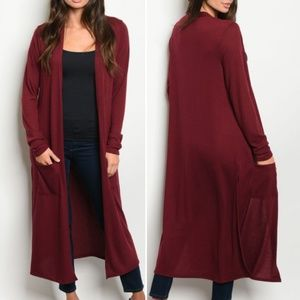 RED WINE  duster / Cardigan